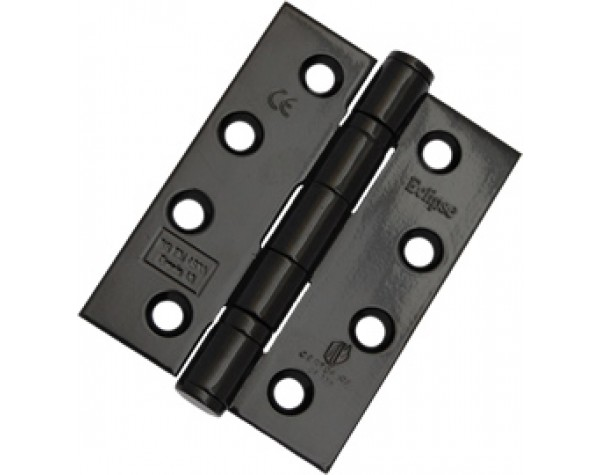 BLACK BB hinge (grade 7/40kg) SS/201 76x51x2mm (pair) by MP Supplies