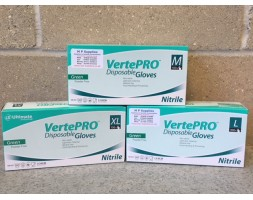 Nitrile gloves VertePRO powder free large GREEN (box 100)