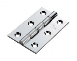 Hinge dble S/S washered butt SC c/w screws 75x50x2.5mm