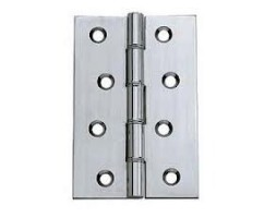 Hinge dble S/S washered butt SC c/w screws 102x67x4mm