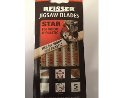 Jigsaw blades for Wood and Plastic Reisser T234X (pk5)