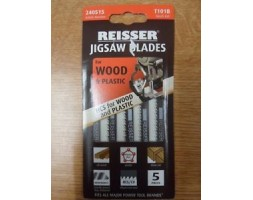 Jigsaw blades for Wood and Plastic Reisser T101B (pk5)
