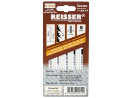 Jigsaw blades for Stainless Steel and Metal Reisser T118AF (pk5)