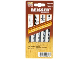 Jigsaw blades for Wood and Plastic Reisser T244D (pk5)