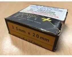 Screw y/chromate c/sunk Trx 3.5x20mm x 200