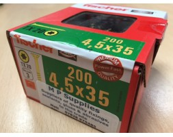 Screw y/chromate c/sunk Trx 4.5x35mm x 200