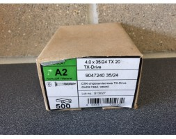 A2/SS Torx c/sunk wood screw 4x35mm x 500
