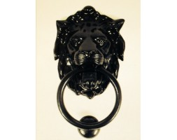 Anvil Lion's Head Door Knocker Black