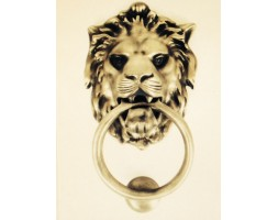Anvil Lion's Head Door Knocker Antique Pewter