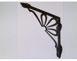 "Anvil Flower Shelf Bracket Black 9"" x 9"""