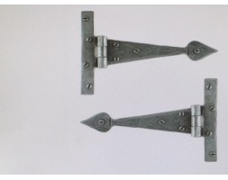 "Anvil T Hinge Pewter Arrow Head 6"" (pair)"