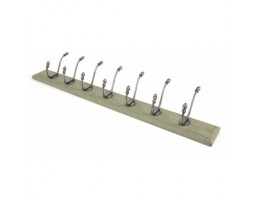 Anvil Farmhouse Hat & Coat Rack Natural Smooth & Olive Green