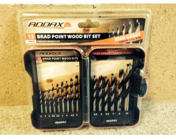 Brad Point Wood Bit Set (15 piece)