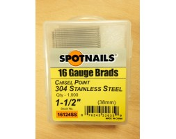Brads ST/ST 16 gauge / 38mm (box 1000)