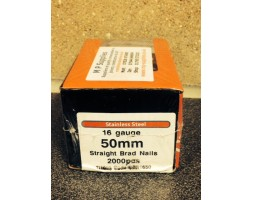 Brads ST/ST 16 gauge / 50mm (box 2000)