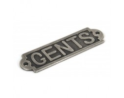 Anvil Gents Sign Antique Pewter