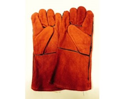Welding Gauntlet Gloves Red (pair)