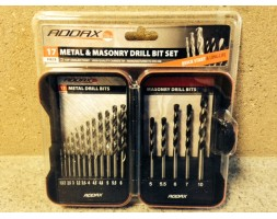 Metal and Masonry Drill Bit Set (17 piece)
