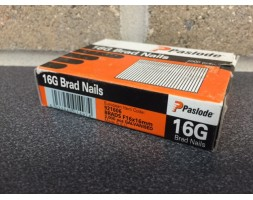 Brads galvanised straight 16 gauge/16mm (per2000)