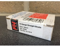 Brads galvanised straight 16 gauge/19mm (per2000)