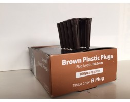 Brown wall plugs (per 100)