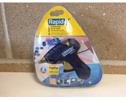Rapid hand held cordless glue gun