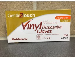 Clear Vinyl disposable gloves large (box 100)