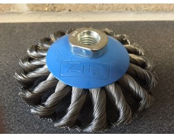 """Zip"" wire brush wheel 115mm / 4.5"" M14 thrd"