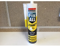 "M S Polymer sealant white 290ml Soudal ""turbo fast"""